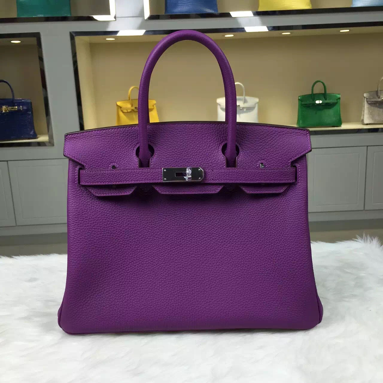 Personal Tailor Hermes P9 Anemone Purple Togo Leather Birkin Bag ...