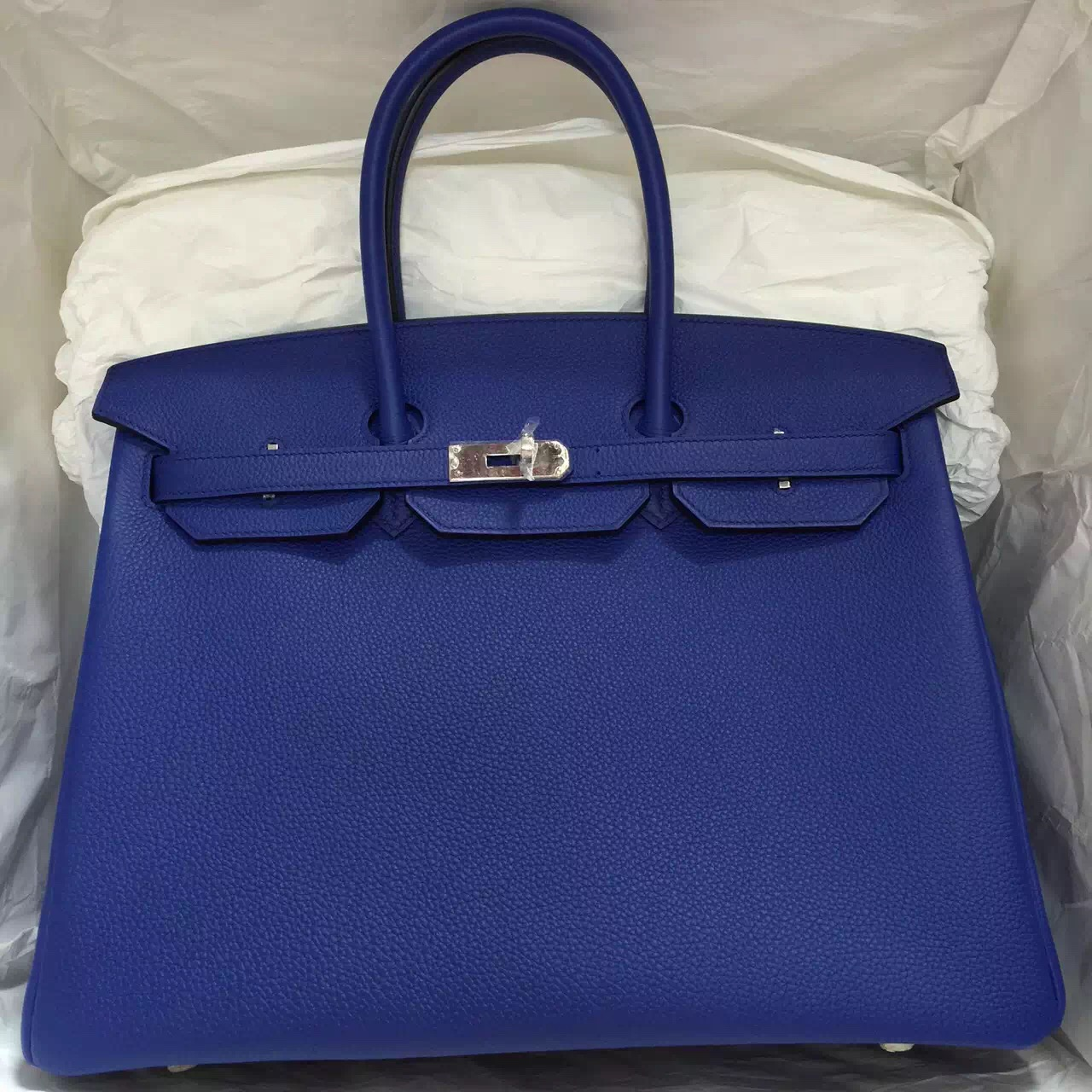 birkin knockof fhermes - Discount Hermes Togo Leather Birkin Bag in 7T Blue Electric Silver ...