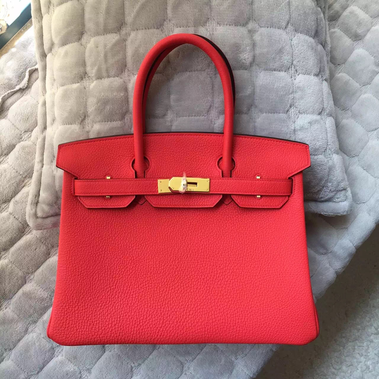 sac hermes birkin orange - Hermes Birkin 30 in 2R Peony Red Togo Calfskin Leather Tote Bag ...