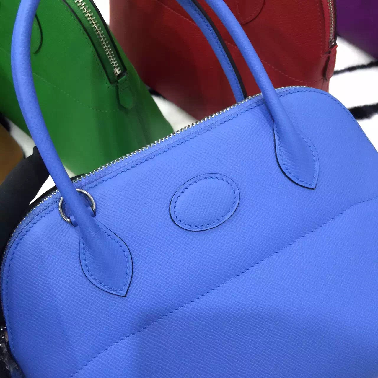 Wholesale Hermes 2T Blue Paradise Epsom Leather Bolide Bag 27CM \u2014 HEMA