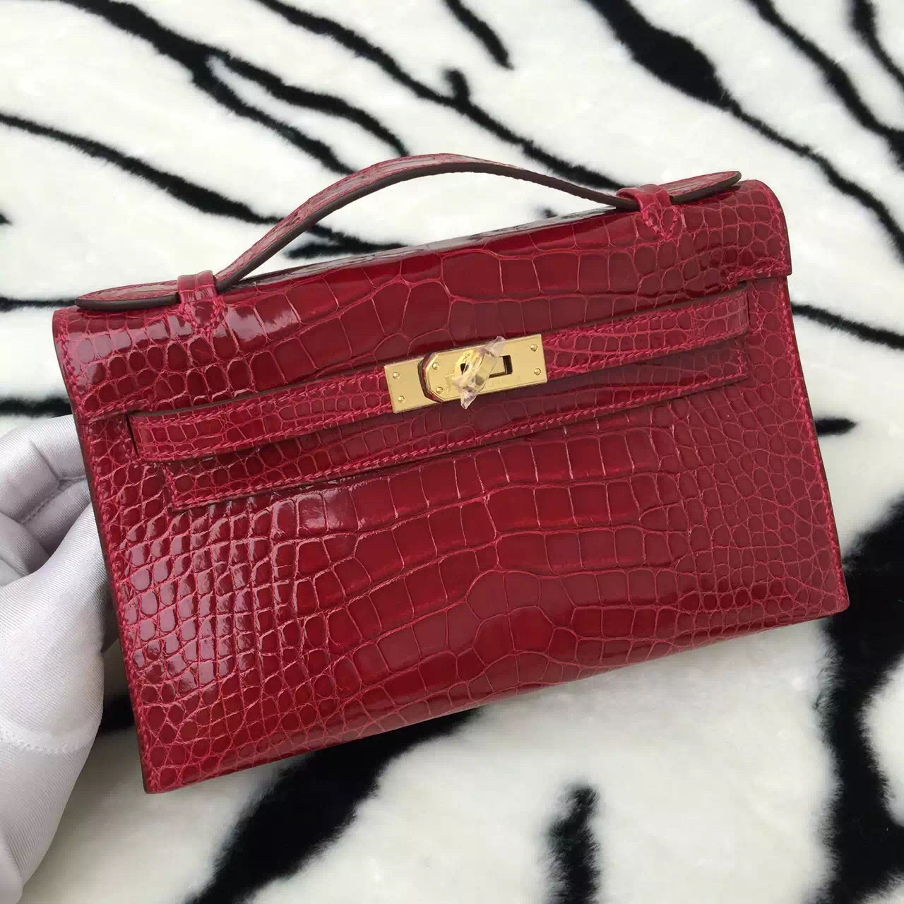 New Fashion Hermes Crocodile Skin Mini Kelly Bag Women\u0026#39;s Handbag ...