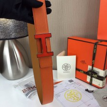 Wholesale Hermes Belt Orange and yellowish brown Orange buckle