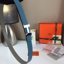 Hermes Women's Palm prints with ice blue and Plain with grey 2.5CM wide