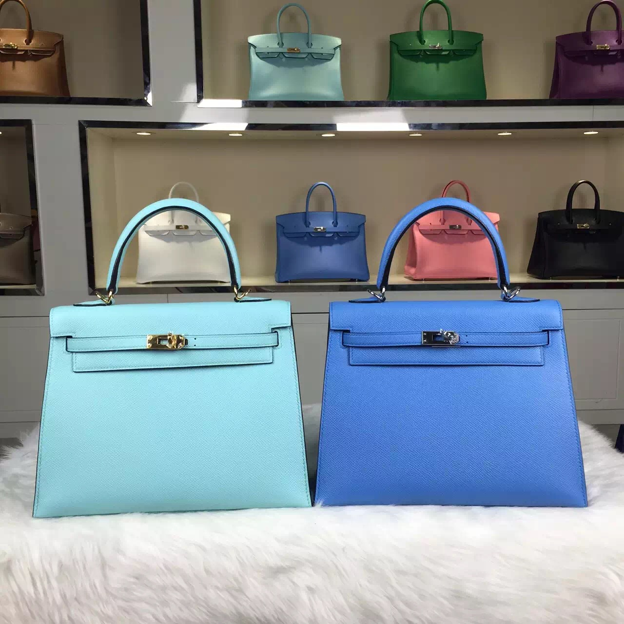 High Quality Hermes Multi-color Epsom Leather Kelly Bag 25CM ...