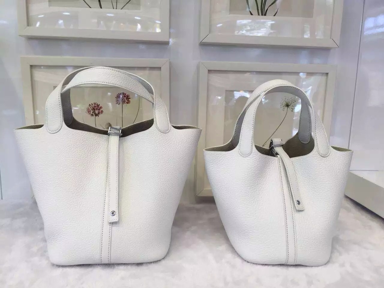 Luxury Hermes White Original Togo Leather Picotin Lock Women\u0026#39;s ...