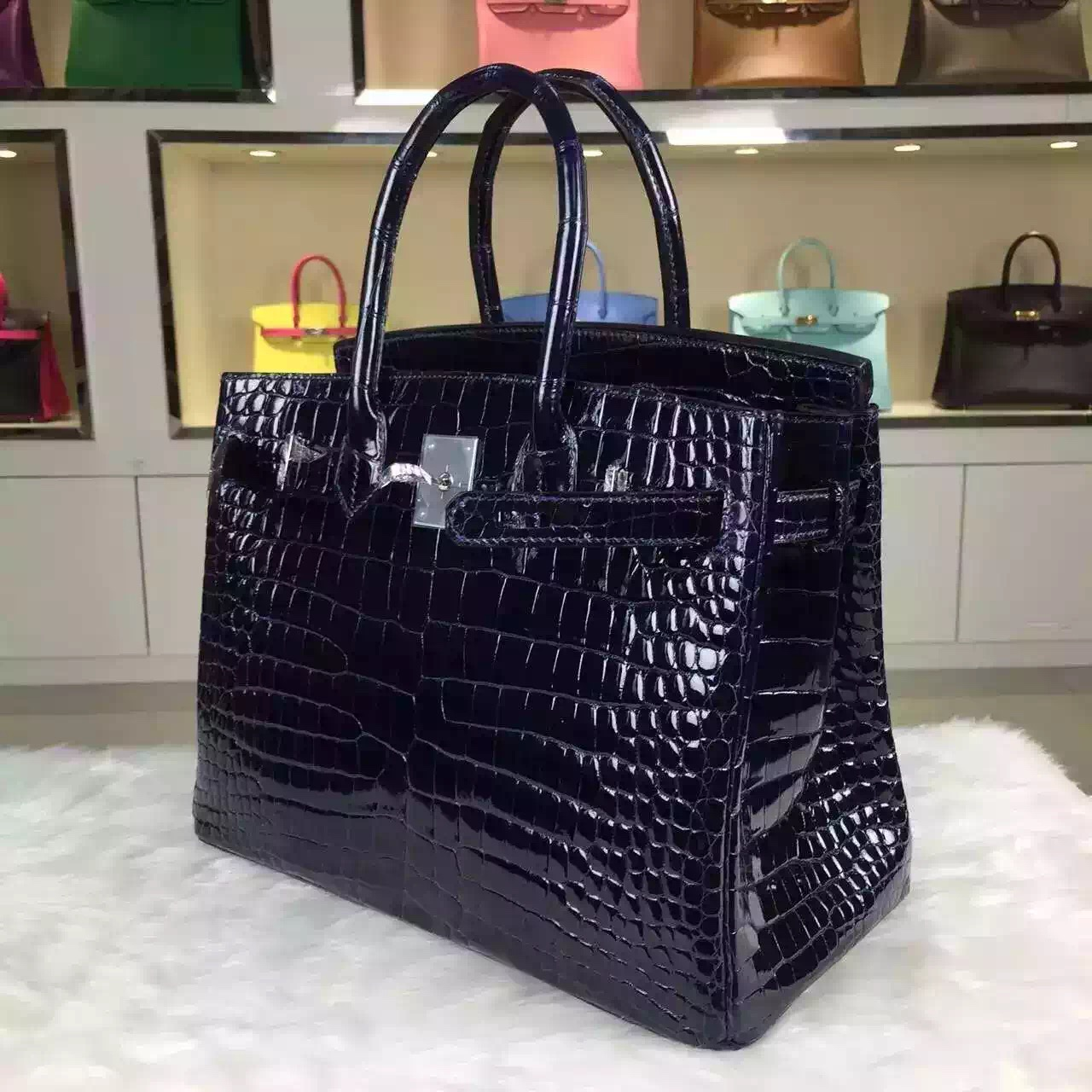 kelly bag replica - Vip Customized Hermes France Original Crocodile Shiny Skin Birkin ...