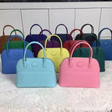 Hand Stitching Hermes Multi-color Epsom Calfskin Leather Bolide Bag27CM