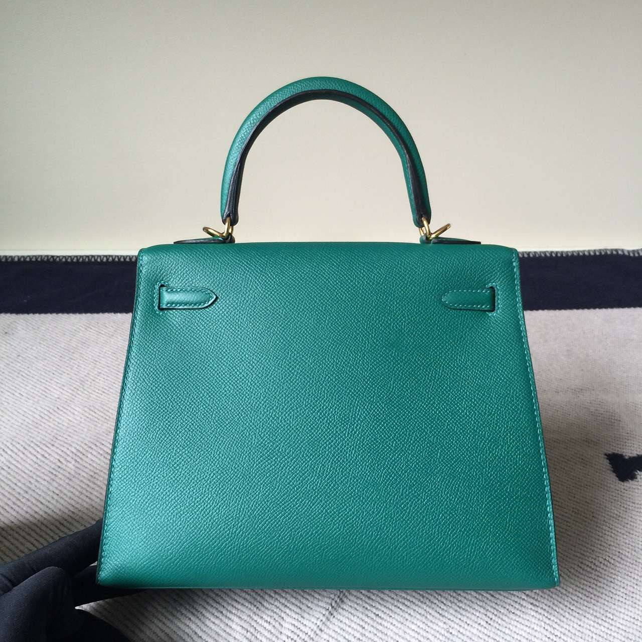 0643f774febb New Noble Hermes Z6 Malachite Green Epsom Leather Kelly Women s ...