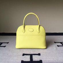 New Hermes Tote Bag Yellow Epsom Leather Bolide 27CM Women's Handbag