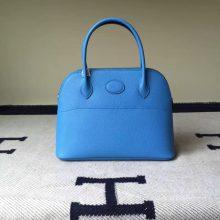 Discount Hermes Bolide Bag 27cm 2T Blue Paradise Epsom Calfskin Leather