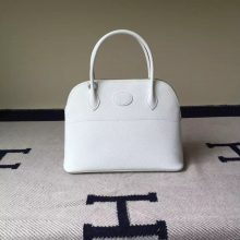 New Fashion Hermes Epsom Calfskin Leather Bolide Tote Bag in 01 Pure White