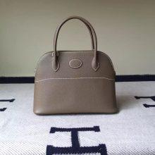 Wholesale Hermes Bolide Bag 27cm Etoupe Grey Epsom Calfskin Leather