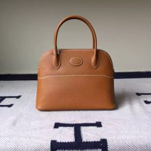 Noble Women's Bag Hermes Epsom Calfskin Leather Bolide Bag in Khaki