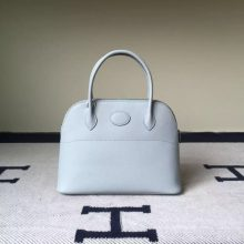 Discount Hermes 8U Glacial Blue Epsom Leather Bolide Bag27cm