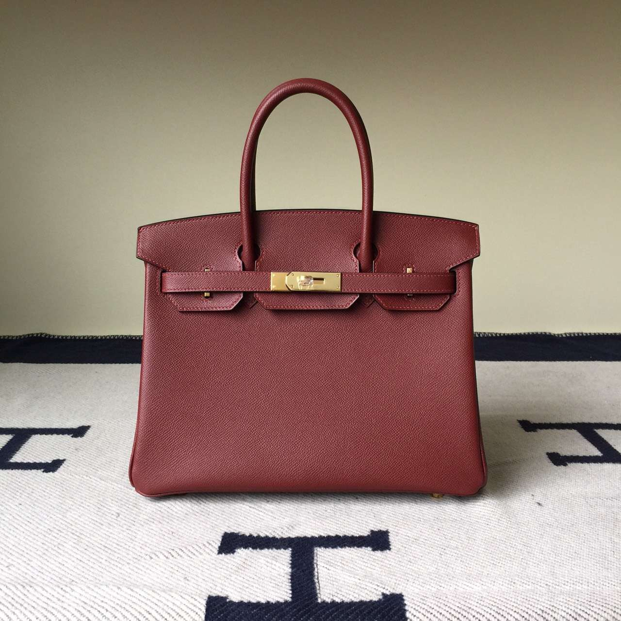 discount hermes handbags - Discount Hermes Birkin Bag 30cm Hermes Red Epsom Calfskin Leather ...