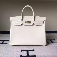 Wholesale Hermes Epsom Leather Birkin40 Bag in CK10 Milk White