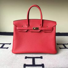 On Sale Hermes Q5 Rouge Casaque Togo Calf  Leather Birkin Bag 35cm