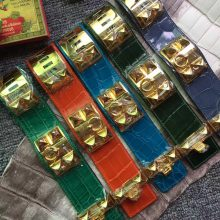 Wholesale Hermes Multi Color Crocodile Leather Hermes Bracelet