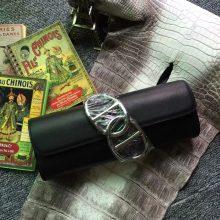 Hand Stitching Hermes CK89  Black Swift Leather Women's Clutch Bag Evening Bag