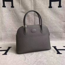 Wholesale Hermes 8F Etain Grey Epsom Leather Bolide Bag 27cm