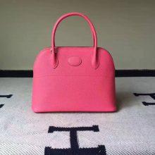 Discount Hermes 8W Rose Azalee Epsom Leather Bolide Tote Bag 27cm
