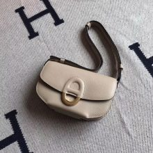 Luxury Hermes Epsom Leather Cherche Midi Bag in S2 Trench Grey