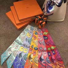 New Arrival Hermes Silk Twilly Ribbon Handkerchief Scarf 86*5cm