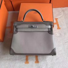 Noble Hermes Ghillies Kelly32cm Bag Double Color Swift Leather