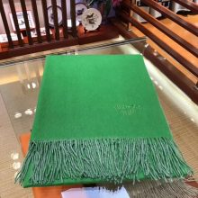 Wholesale Hermes Green & White 100% Cashmere Women's Scarf Cape
