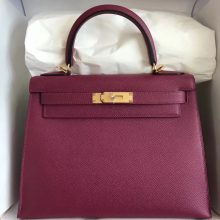 Sale Hermes Epsom Calf Leather Kelly28CM Handbag in K5 Tosca Purple