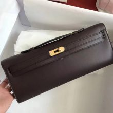 Discount Hermes CK57 Bordeaux Swift Calf Leather Kelly Cut Clutch Bag