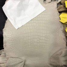 Hermes Bag Order New Arrival MattCrocodile Leather in Beton White