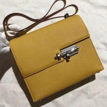Discount Hermes 9D Ambre Yellow Epsom Calfskin VerrouShoulder Bag