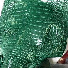 Discount Hermes 6Q Emerald Green ShinyCrocodile Leather Can Order Birkin25cm