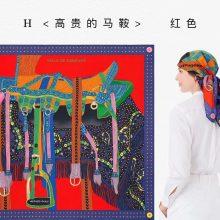 New Arrival Hermes 100%Silk Red《Elegant Saddle》2018 Autumn New Scarf 90*90cm