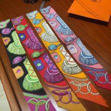 On Sale Hermes 100%Silk Twilly Scarf Neckerchief Bag Ribbon 85*5cm