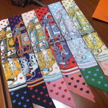 Fashion Hermes New Arrival Twilly Scarf Ribbon 100%Silk Scarf 85*5cm