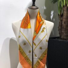Discount Hermes Orange 100%Mulberry Silk 2018 New Women's Scarf 90*90cm