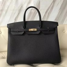 New Arrival Hermes Black Togo Calf Leather Birkin40CM Handbag Gold Hardware
