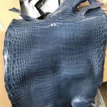 Fashion Hermes Shiny PorosusCrocodileLeather in CK75 Blue Jean Can Order Kelly/Birkin Bag