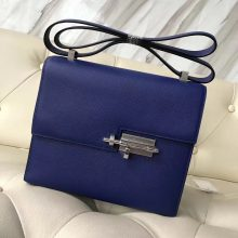 Discount Hermes 7T Blue Eletric Epsom Calf Verrou21CM Bag Shoulder Bag