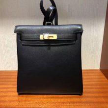 New Arrival Hermes CK89 Nior Swift Calf Leather Kelly Backpack Shoulder Bag22CM