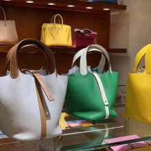 New Arrival Hermes Clemence Calf Leather Picotin18/22CM Tote Bag