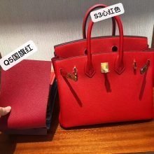 Sale Hermes Q5 Rouge Casaque VS S3 Rose de Coeur Epsom Calf Birkin Bag Gold Hardware