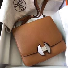 New Arrival Hermes CK37 Gold Evecolor Calf  New 2002 New Constance Bag Silver Hardware