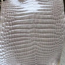 Customization Hermes Birkin Bags CK81 Gris Tourterelle Shiny Crocodile Leather
