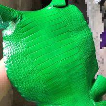 Hermes Birkin Bags Customization 1LVert Cacti Shiny Alligator CrocodileLeather