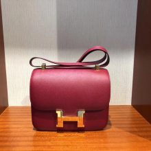Wholesale Hermes K1 Rouge Grenade Epsom Calf Constance24CM Bag Gold Hardware