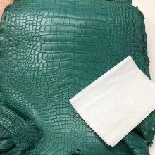 Hermes Minikelly Bag Customization 7F Blue Paon Alligator Matt Crocodile Leather