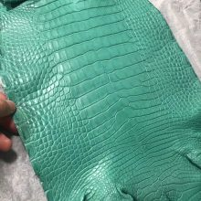 New Hermes Mint Green Alligator Matt Crocodile Leather Minikelly Clutch Bag Customization